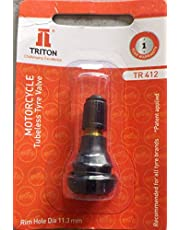 TRITON Tubeless Front and Rear Neck Valve for Motor Cycle - Set of 2