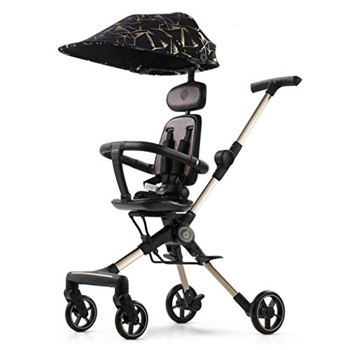 Dolls pram Doll Stroller Pram Baby Carriage, Stroller Travel Is Ultra-lightweight, Foldable And Can Sit And Lie Down baby pushchair (Color : B)