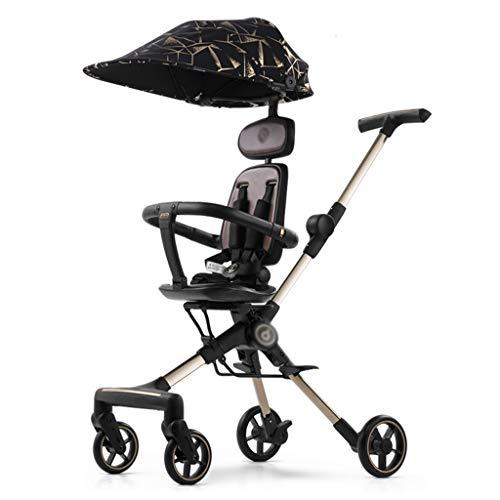 ZYM Muñeca Cochecito del Cochecito de niño del Carro de bebé, Cochecito de Viaje es Ultra-Ligero, Plegable y Puede Sentarse y acostarse (Color : B)