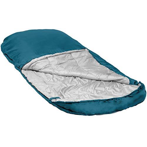 Highlander Breiter Schlafsack Big XL Extra großes Pod-Design, perfekt für Camping, Übernachtungen und Festivals - Leichte Einzeltaschen für Erwachsene Juniors Kids Sleephaven (Marineblau)