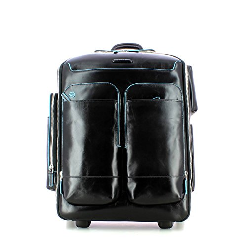 Trolley zaino small porta Pc 15''/iPad®Air/Air2 | Piquadro Blue Square | CA3797B2-Nero