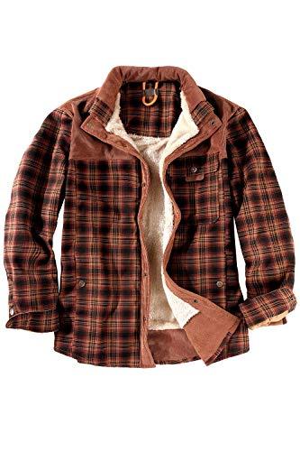 Legendary Whitetails Men's Maplewood Hooded Shirt Jacket (X-Large, Slate Hatchet Blue Plaid)