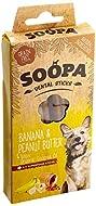 Soopa Grain Free Banana and Peanut Butter Dental Dog Treats, 4 Sticks