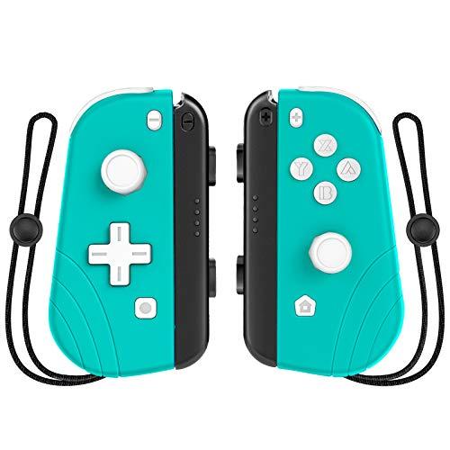 Controlador inalámbrico Joy Pad para interruptor, controlador Proslife de repuesto para Joycon compatible con Nintendo Switch/Switch Lite, turbo ajustable y vibración dual (sin agarre), verde