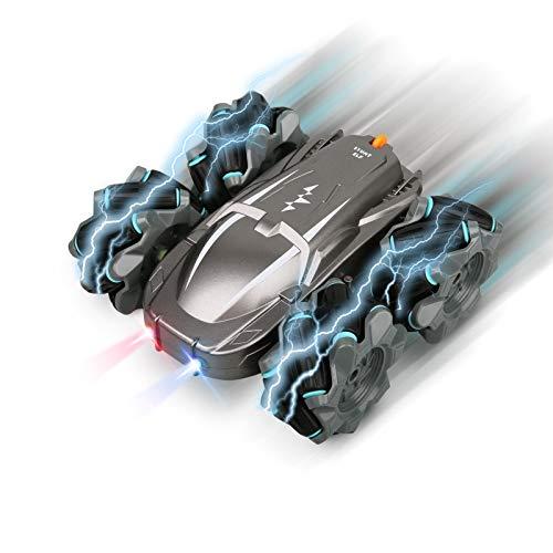 FLYNOVA 4WD Ferngesteuertes Auto, Wiederaufladbar RC Stunt Auto Rennauto, 360°Flip Spielzeugauto Fahrzeug, 2.4 Ghz Radio Ferngesteuerter Buggy Auto für Jungen Mädchen Erwachsene