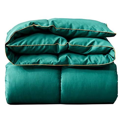 JIAJULL Quilt for die ganze Saison, vorzügliche Pinch Pleat Design, geringes Gewicht Tröster, Bettwäsche Quilt Grün, weiche Mikrofaser-Quilt (Größe : 150 * 200CM 2.5kg)