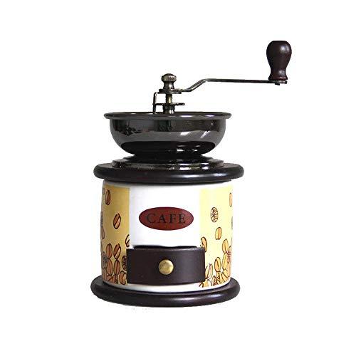 Koffiezetapparaat, Manual koffiemolen Retro handkoffiemolen Storage Compact Size met kleine lade Hand Crank Molen for thuiskantoor Travel XIUYU