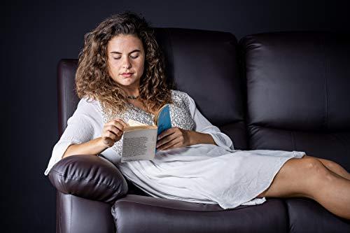 ECO-DE Sofá de dos plazas Negro con masaje Integrado, reclinable, programable de Polipiel