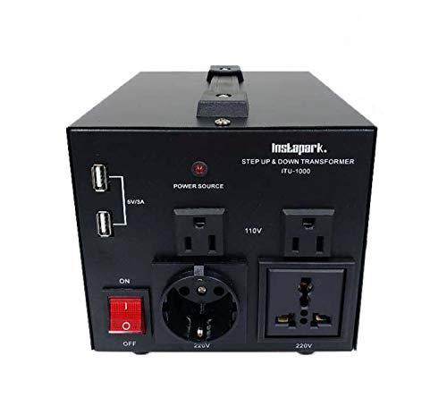 Instapark ITU-1000 Series Heavy-Duty AC 110/220V Step Up/Down Voltage Transformer/Converter