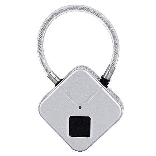 Candado de Huella Dactilar, Recargable por USB, antirrobo, Resistente al Agua, desbloqueo, sin Llave, Cerradura biométrica, para Maletas, Mochilas, Gimnasio, Bicicletas