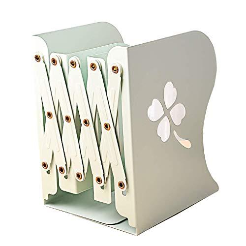 Archivador Archivador titular de archivo Archivo Rack trama de información Estantería de recogida selectiva de compartimentos retráctil diseño de la escuela Oficina librero ( Color : Green )