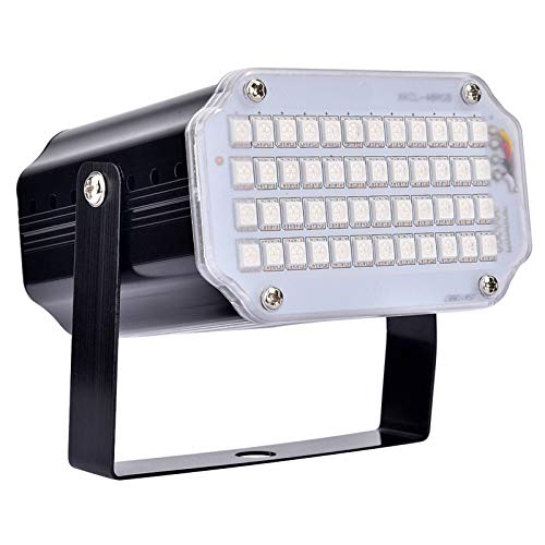 BASEIN Stroboskop Light, 48 LED Strobe Light mit Fernbedienung, Sprachaktivierte und Flash Speed RGB LED-Blitzlichter für Party, Geburtstag,...