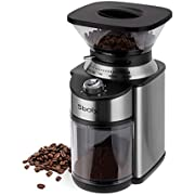 Sboly Conical Burr Coffee Grinder, Electric Coffee Grinder Adjustable with 19 Precise Grind Settings, Burr Mill Grinder for Drip, Percolator, French Press, American and Turkish Coffee Makers