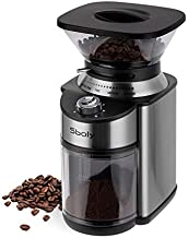 Sboly Conical Burr Coffee Grinder, Stainless Steel Adjustable Burr Mill with 19 Precise Grind Settings, Electric Coffee Grinder for Drip, Percolator, French Press, American and Turkish Coffee Makers