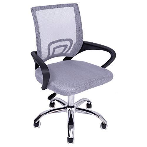 Cadeira escritório giratoria Wave Com Encosto Em Tela pppr