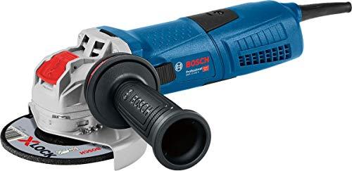 Bosch Professional Winkelschleifer GWX 13-125 S (1.300 Watt, für X-LOCK Zubehör, ScheibenØ: 125 mm, inkl. Anti-Vibrationshandgriff, Schutzhaube, im Karton)