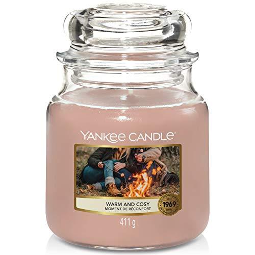 Yankee Candle candela profumata in giara media | Calda & Accogliente | durata: fino a 75 ore
