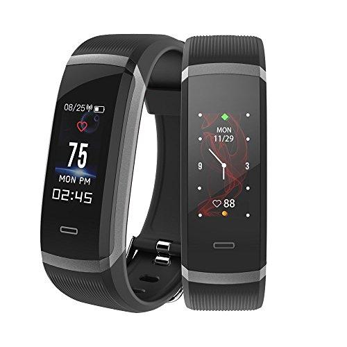 Makibes Pulsera de actividad, HR3 Fitness tracker, Monitor cardiaco, podometro, monitorizacion de sueño, recordatorio de sedentarismo, alertas sms y push,protecci on IP67 compatible android e ios.