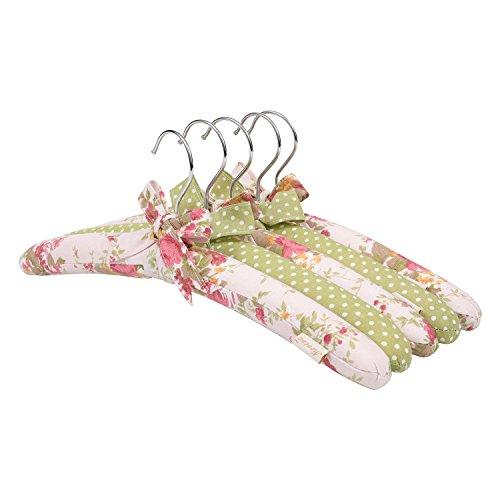 NEOVIVA - Grucce appendiabiti da donna, 38 cm, confezione da 5 pezzi, colore: rosa quarzo floreale