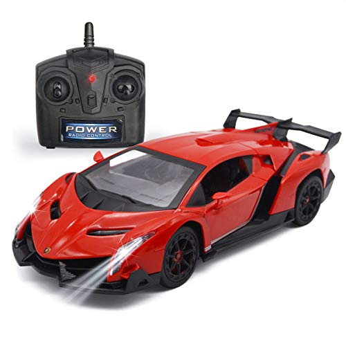 QUN FENG Remote Control RC CAR Racing Cars Compatible with Lamborghini Veneno 2.4G 1:24 Toy RC Cars Model Vehicle for...