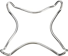 Funnytoday365 Mayitr Chrome Plated Metal Stove Pot Stand Coffee Maker Pot Trivet Stand Cooker Hob Kitchen Tools