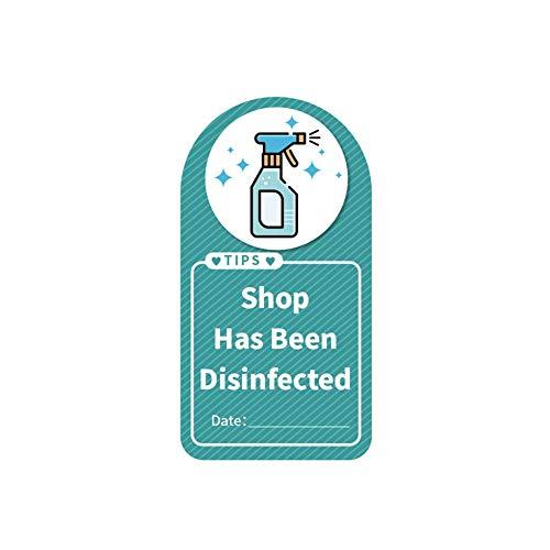 This Shop hat desinfizierte und anti-epidemische Schild-Wandaufkleber, Epidemie-Prävention, Werbeaufkleber für Ankündigungen, Anlässe und Bürobereiche.