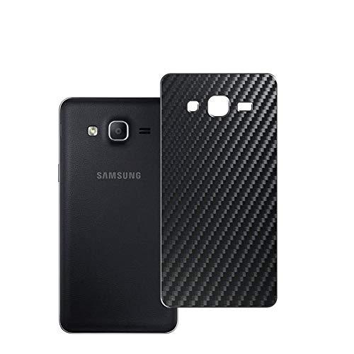 Vaxson 2 Unidades Protector de pantalla Posterior, compatible con Samsung Galaxy On5 2015, Película Protectora Espalda Skin Cover - Fibra de Carbono Negro