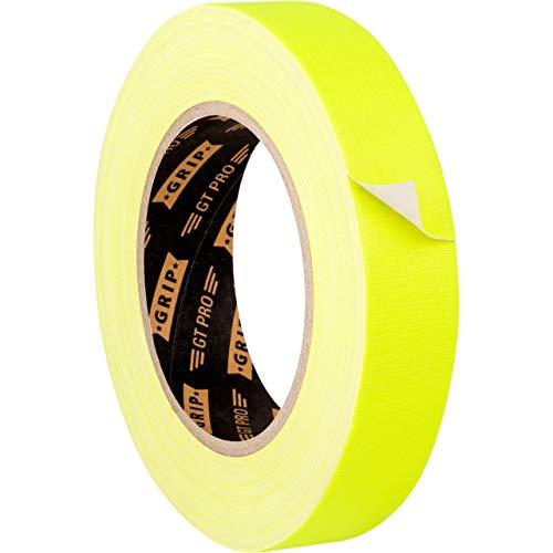 GRIP Eventbasics GT PRO Neon Tape neongelb, 25 mm x 25 m, Schwarzlicht Gaffa Tape fluoreszierend, matt