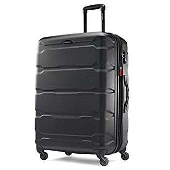Samsonite Omni PC Hardside Expandable Luggage with Spinner Wheels Black Checked-Large 28-Inch