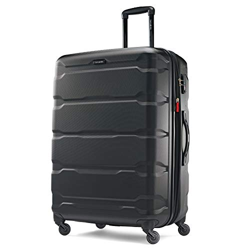 Samsonite Omni PC Hardside Luggage, Black, Checked-Large