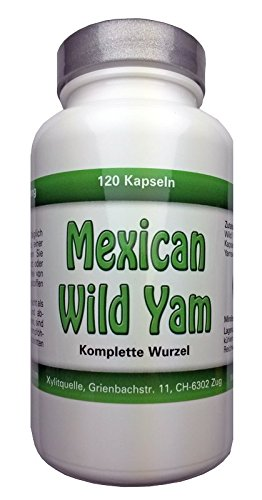 Mexican Wild Yam Kapseln, ganze Wurzel, 150 Kaps x 750mg, vegan