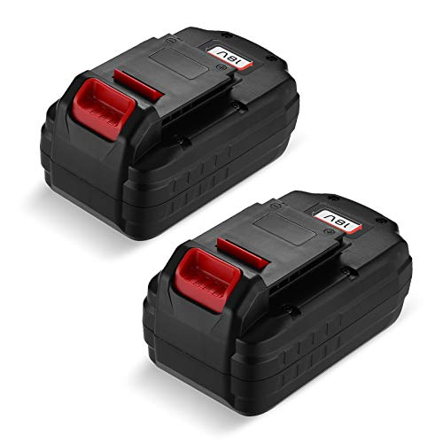 Upgraded 2 Pack 18V 3.7Ah Replacement Battery Compatible with Porter Cable PC18B-2 18-Volt Cordless Tools Batteries