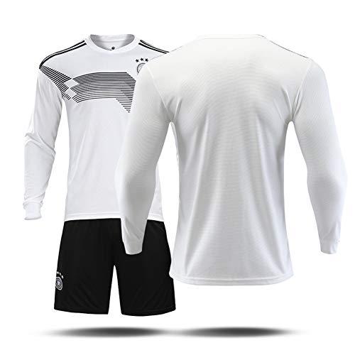 Heren Duitsland Thuis Voetbal Lange Mouw Jersey Trainingspak Sport Jas Kids Competitie Team Uniform Outdoor Sportkleding 2 Stuks 130-3XL