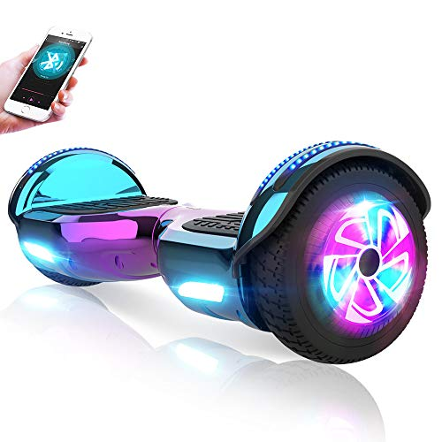 """M MEGAWHEELS Hoverboards 6,5"""" Elektrisch Selbstausgleich Roller Tafel Eingebaut Bluetooth Lautsprecher, UL-Zertifiziert"""