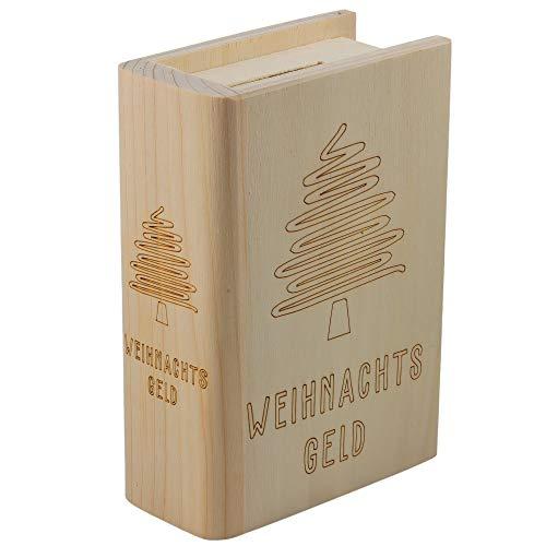 Spruchreif PREMIUM QUALITÄT 100% EMOTIONAL · Spardose Buch aus Holz mit Gravur · Geldgeschenk Sparbüchse · Weihnachtswünsche · Geldgeschenk Weihnachten · weihnachtliche Geldgeschenke