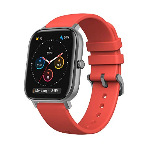 Amazfit GTS Smartwatch, Adultos Unisex, Naranja, 12.6 x 12.4 x 6 cm