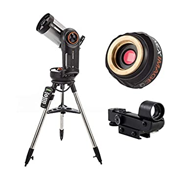 Celestron 12090 NexStar 6 f/10 SCT Telescope with Hand Control and Star Pointer Finderscope   NexImage Burst Solar System Imager Camera Astro imaging Bundle (2 Items)