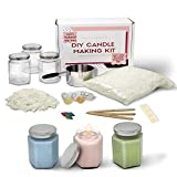Complete Soy Wax Candle Making Kit DIY Beginners Set- Includes Supplies to Make 3 Candles Including Soy Wax,...