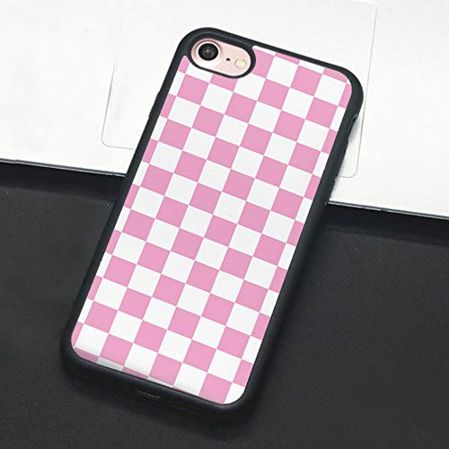 Checkerboard Phone Case for iPhone 11 Pro Max XS Max XR X 8 Plus 7 Plus 8 7 6 6s 5s 5 se Hard Cover Grid Lattice Plaid Tartan Damier House Checkerboard Chessboard Checker Flag (iPhone 7/8 Plus,4)