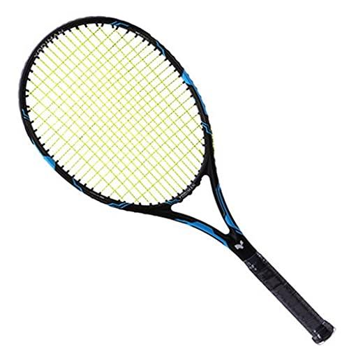 Raqueta de Tenis Llena de Fibra de Carbono, Raqueta de Tenis de competición para Principiantes Masculinos y Femeninos, Bolso de Mano y Pelota de Tenis Gratis, Traje de práctica de Tenis Individual