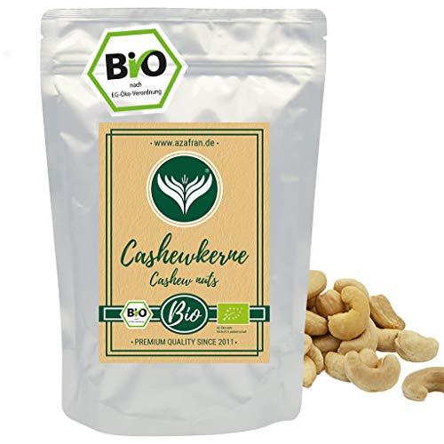 Azafran BIO Cashew Nüsse - Cashewkerne naturbelassen ganz 1kg