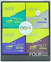Aoni Condoms Value Pack - Four Play - Ultrathin 001 3 PCS, NS Ultrathin 001 3 PCS, Extra Smooth Ultrathin 001 3 PCS & Over-Time Combo 1 Set