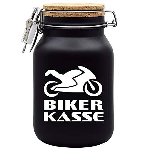 Hucha para dinero, diseño de caja de bicicleta, color negro, XL