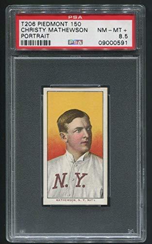 T206 Christy Mathewson HOF Portrait Piedmont 150 PSA 8.5 POP 1 NONE HIGHER - Slabbed Baseball Cards