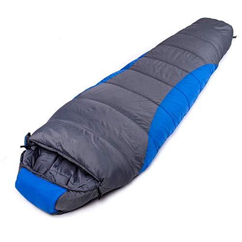 CATRP-Sac de couchage pour équipement de Montagne -15~10 ℃ Sac de Couchage Confortable pour Adultes Sac de Couchage Momie léger pour la randonnée en Camping extérieur (Color : Blue)