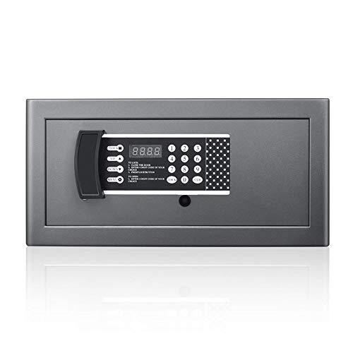 HYYQG Caja Fuerte Digital - Caja IgníFuga Acero ElectróNica Segura Digital con Teclado para Proteger Dinero Pasaportes JoyeríA para Negocios Casa Viajes Negro, Black