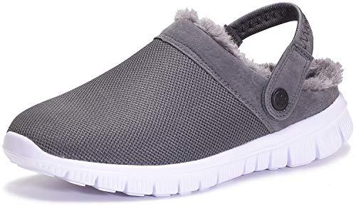 Unisex Hombres Zuecos Mujeres Invierno Zapatillas de Estar por casa Pantuflas Memory Foam CáLido Antideslizantes Comodos Zapatos para Mujer
