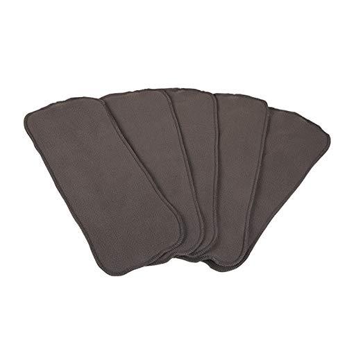MEILILI Pañales para Adultos de carbón de bambú de 5 Capas, pañales Lavables, pañales de carbón de bambú súper Suaves y absorbentes