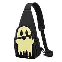 ワンショルダーバッグ メンズ 斜めがけ胸バッグ ボディー肩掛けバッグ 小型手提げバッグ 出張 通勤 通学用 かわいい幽霊 鬼