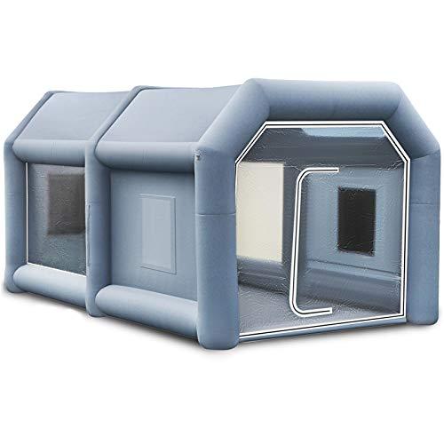 Husuper Cabina de Pintura Inflable 4 x 2.5 x 2.2 M Carpa Hinchable para Coche Tienda Inflable Cabina de Estacionamiento de Pintura Tienda Inflable de Campaña Cabina Inflable para Pintar el Coche